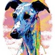 Electric Whippet Art Print