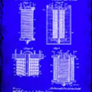 Electrical Battery Patent Drawing 1e Art Print