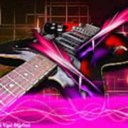 Electro Guitar Art Print