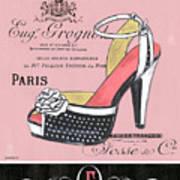 Elegant French Shoes 2 Art Print