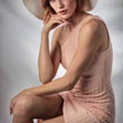 Elegant Johanna In Peach Art Print