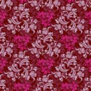 Elegant Red Floral Design Art Print