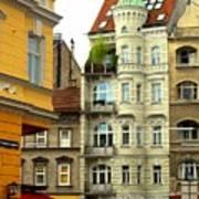 Elegant Vienna Apartment Building Art Print