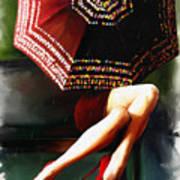 Elena Umbrella Art Print