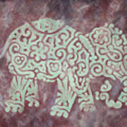 Elephant - Animal Series Art Print by Jennifer Kelly