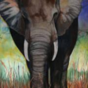 Elephant Art Print by Anthony Burks Sr