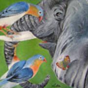 Elephant Fantasy1 Art Print