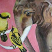 Elephant Fantasy2 Art Print