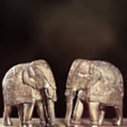 Elephant Figures Art Print