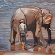 Elephant Man Art Print