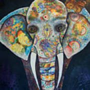 Elephant Mixed Media 2 Art Print
