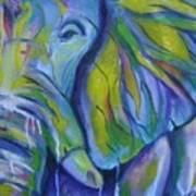 Elephant On Parade Art Print