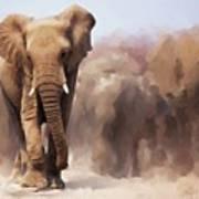 Elephant Painting Art Print