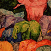 Elephant Party Art Print