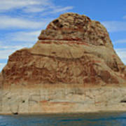 Elephant Rock Lake Powell Art Print by Chuck Wedemeier