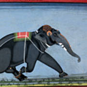 Elephant & Trainer, C1750 Art Print