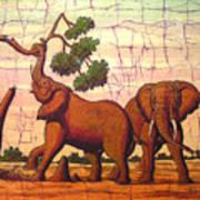 Elephants View Art Print
