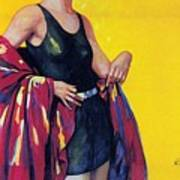 Elida Cremes In Sonne Und See - Woman In Swimsuit - Vintage Advertising Poster Art Print