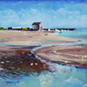 Elie Beach 2018 Oil Art Print