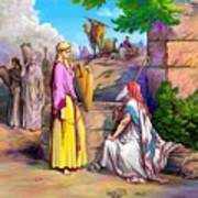 Eliezer N Rebekah Art Print