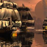 Eliminating The Pirates Art Print