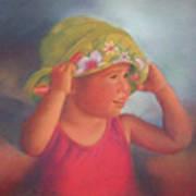 Elisabeth with her Beach Hat Art Print
