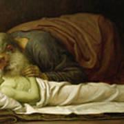 Elisha Raising The Son Of The Shunamite Art Print by Frederic Leighton