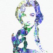 Elithabeth Taylor Print by Naxart Studio
