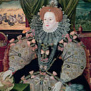 Elizabeth I Armada Portrait Print by George Gower
