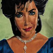 Elizabeth Taylor And La Paragrina Pearl Print by Jeffrey J Steinberg