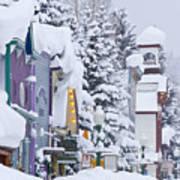 Elk Avenue Snow Art Print