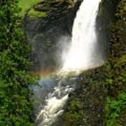 Elk Creek Falls Rainbow Art Print