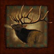 Elk Lodge Print by JQ Licensing