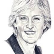 Ellen Degeneres Art Print