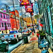 Ellicott City Street Art Print