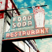 Elliston Place Soda Shoppe - Square Crop Art Print by Amy Tyler