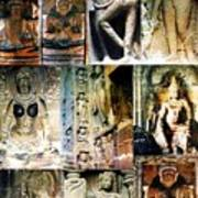 Ellora And Ajanta Caves Art Print