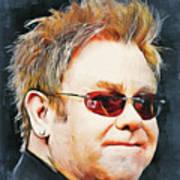 Elton john classic portrait Art Print