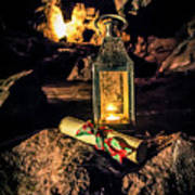 Elves Lantern Art Print
