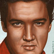 Elvis 24 1958 Art Print