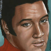 Elvis 24 1968 Art Print
