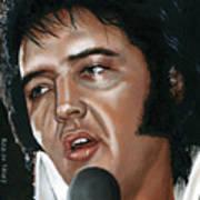 Elvis 24 1975 Art Print