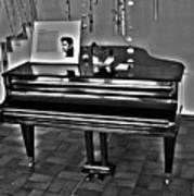 Elvis And The Black Piano ... Art Print
