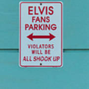 Elvis Fans Parking Art Print
