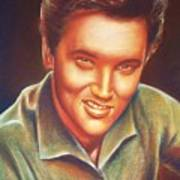 Elvis In Color Art Print by Anastasis  Anastasi