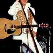 Elvis In Concert Art Print