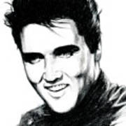 Elvis Art Print by Lin Petershagen
