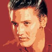 Elvis Presley - The King Art Print