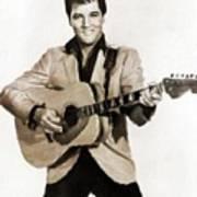 Elvis Presley By Mb Art Print