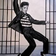 Elvis Presley Jailhouse Rock Art Print